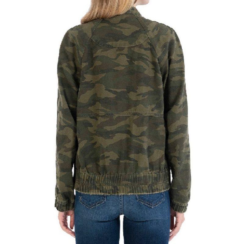 Camo Olive Bomber Jacket