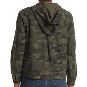 Camo Print Hooded Utility Jacket