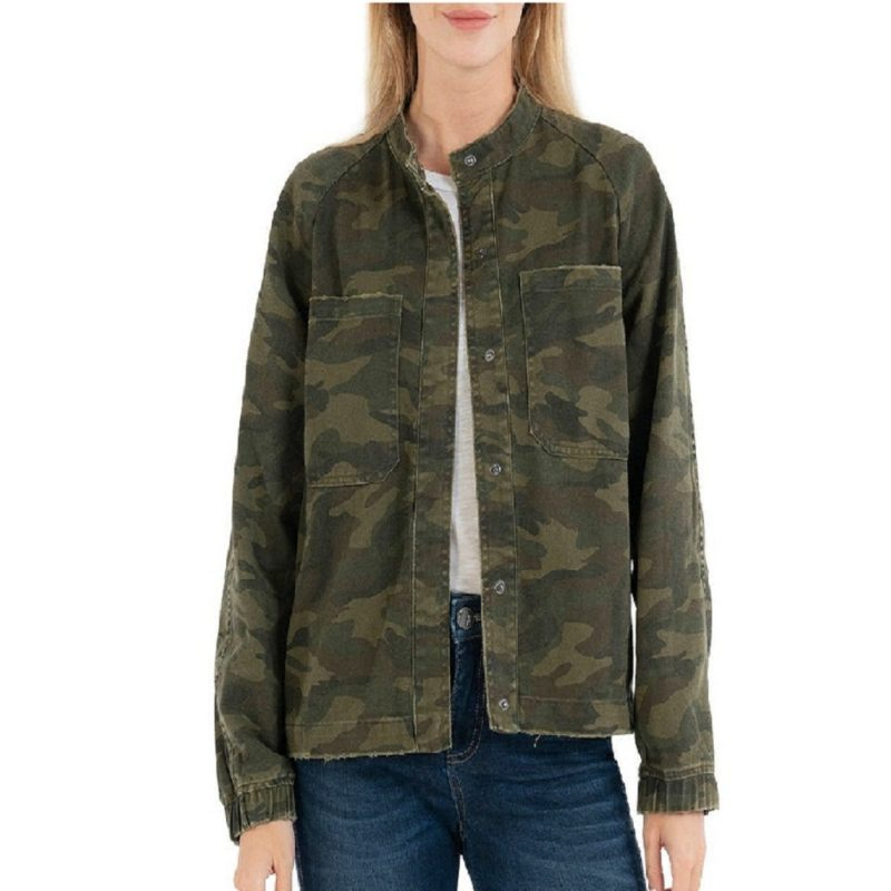 Camo Style Olive Bomber Jacket