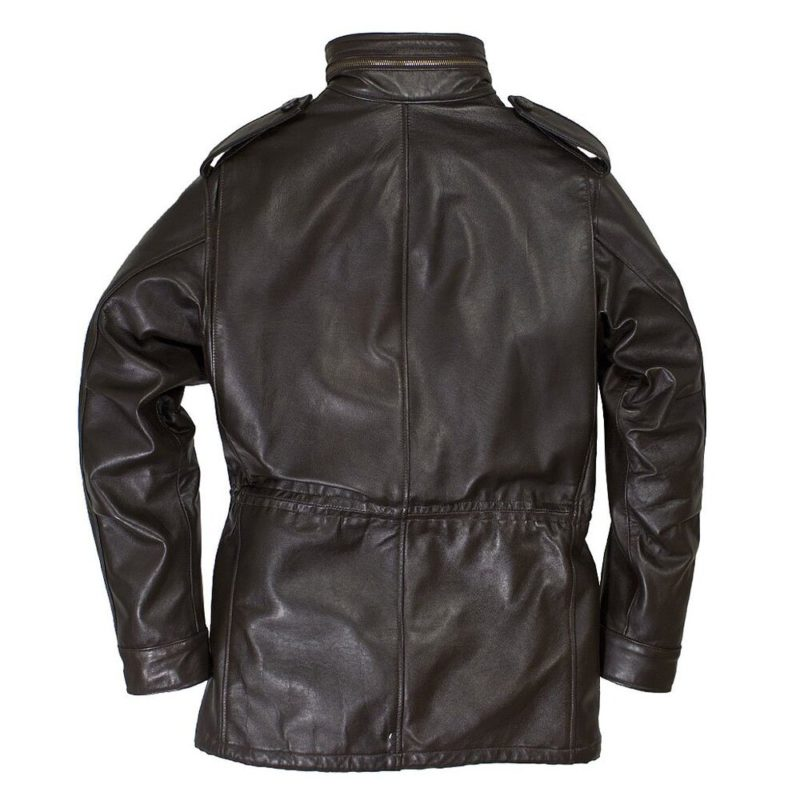 Leather M-65 Field Brown Jacket