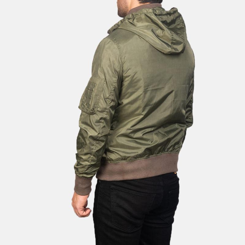 Men's Green Hooded Jacket