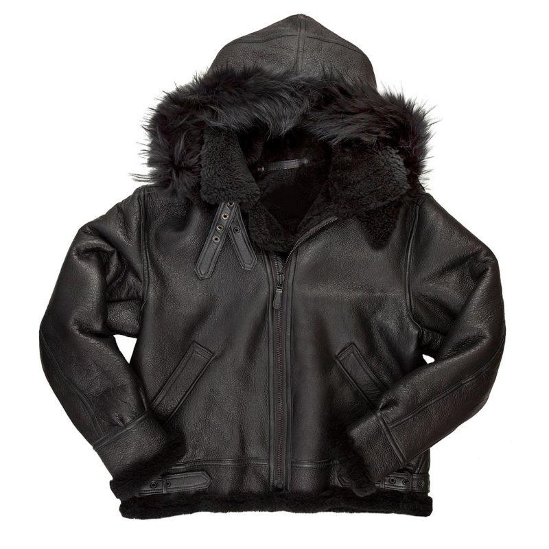 All-Black-B-3-Hooded-Sheepskin-Bomber-Jacket