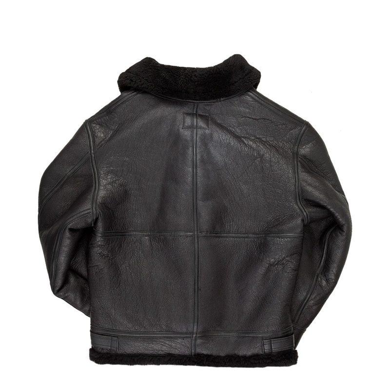 All-Black-B-3-Hooded-Sheepskin-Bomber-Jackets