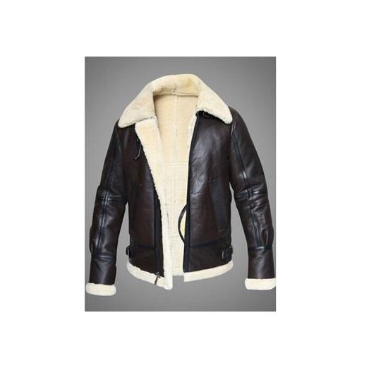 B3 Aviator Pilot Shearling Sheepskin Flying Real Leather Jacket