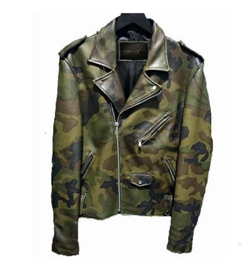 Classic Biker Camoflage Jacket