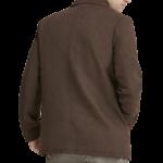 Classic Brown Wool Pea Coat For Men