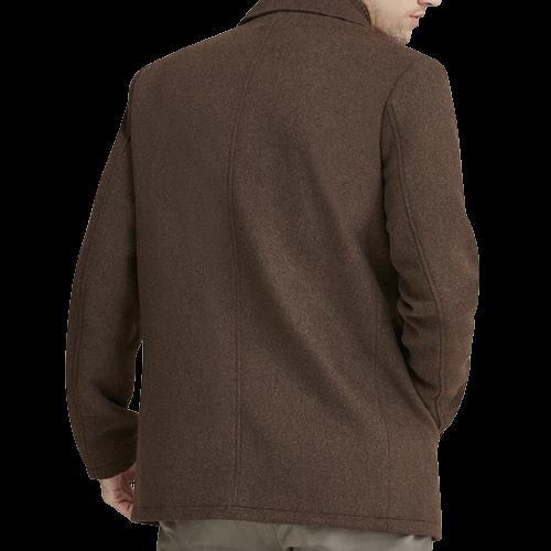 Classic Brown Wool Pea Coat