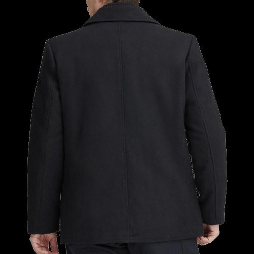 Classic Navy Blue Men's Wool Pea Coat