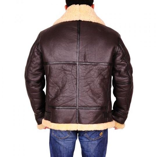 Dark-Brown-Sheepskin-Leather-Jacket-