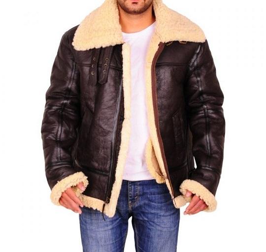 Dark-Brown-Sheepskin-Leather-Jacket