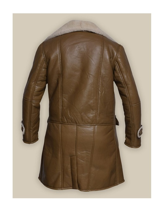 Men-Brown-Shearling-Leather-Trench-Coat