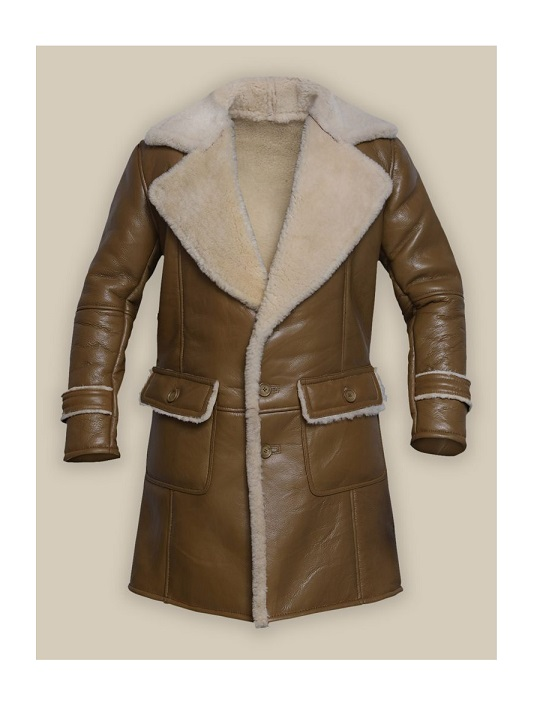 Men-Brown-Shearling-Leather-Trench