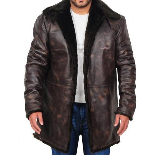 Men-Distressed-Brown-Fur-Collar-Jacket