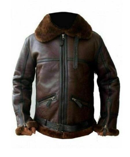 Mens-Aviator-RAF-Reddish-Shaded-Fur-Leather-Flying-Jacket