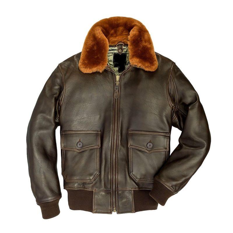 Navy-G-1-Lambskin-Brown-Jacket-