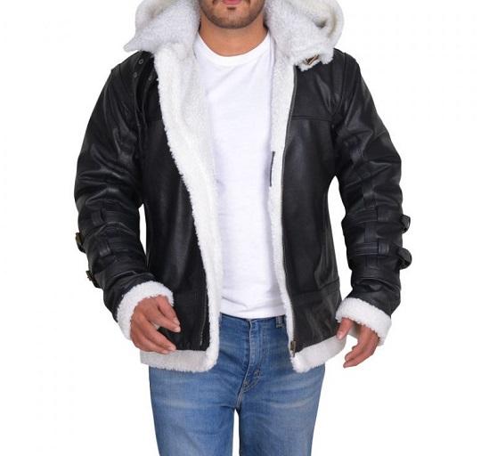 Shearling-Black-Leather -Jacket