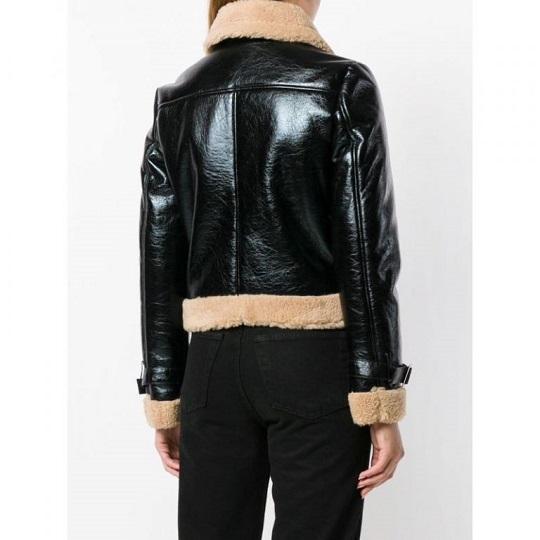 Women-Black-Bomber-Leather-Jacket-