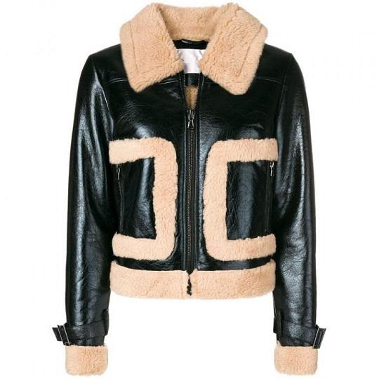 Women-Black-Bomber-Leather-Jacket