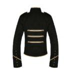 Gold Black Parade Military Uniform Jacket