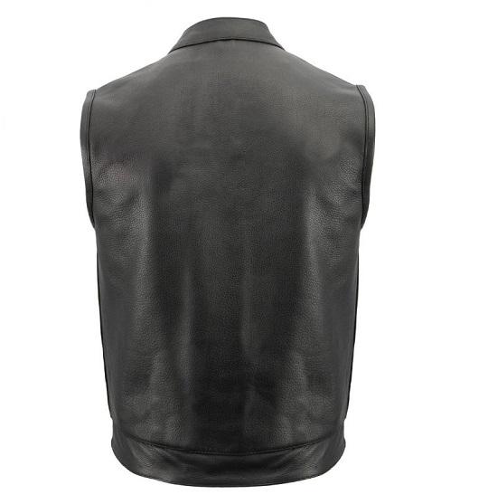 weapon hiding leather vest for men