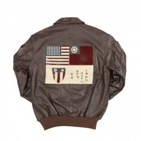 A-2 Mens Classic Fighter Group Bomber Leather Jacket-