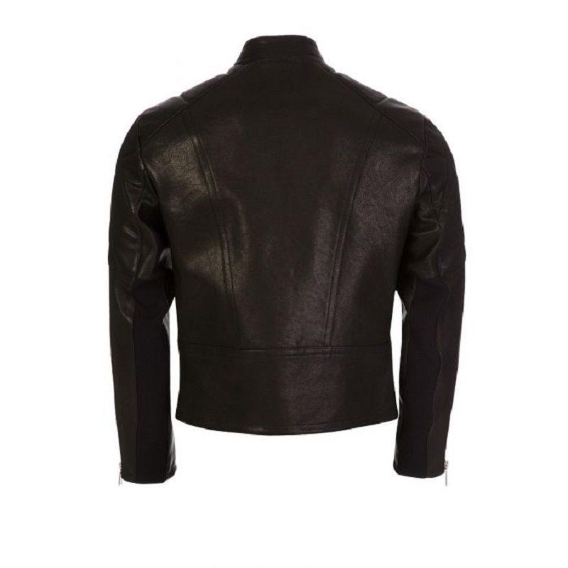 Black Leather Biker Jacket-