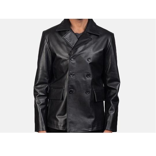Black-Leather-Naval-Short-Peacoat.