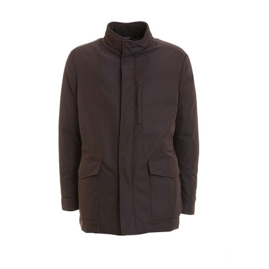 Classic Purple Stand-up Cotton Field Jacket