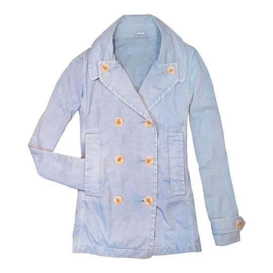 Kids Cotton Light Blue Short Peacoat