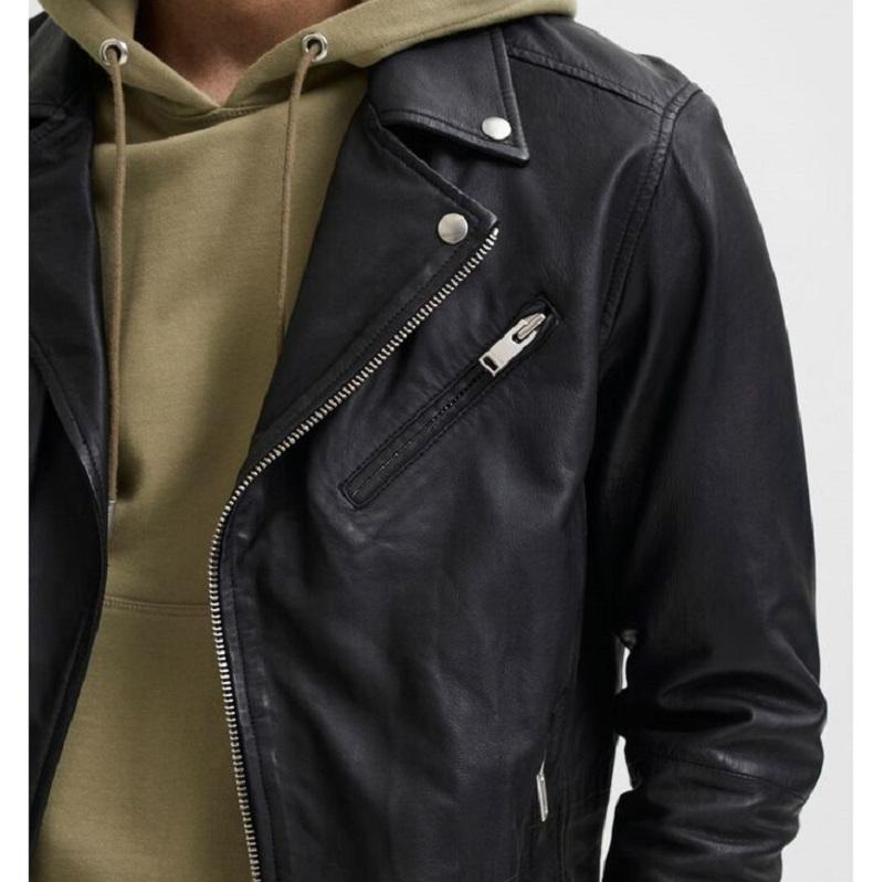 Lambskin Biker Leather Jacket-
