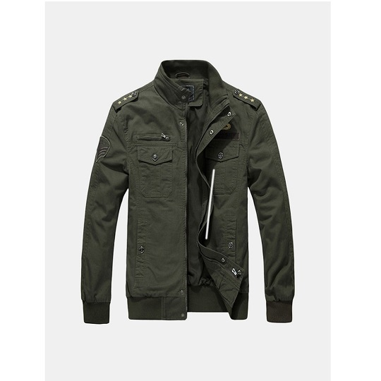 Men Casual Military Outdoor Green Field jacket