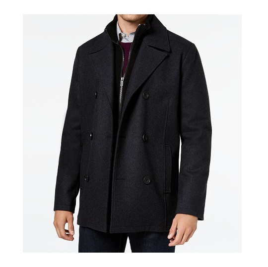 Mens Big Tail Double Breasted Peacoat