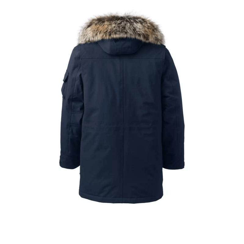 Men's Blue Parka Jacket-