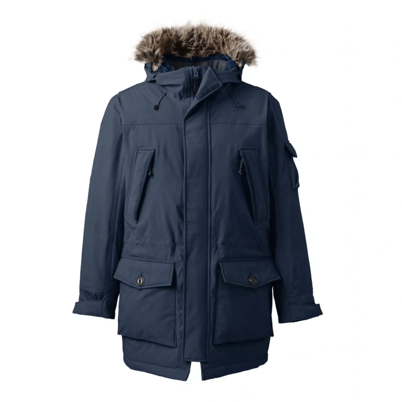 Men's Blue Parka Jacket