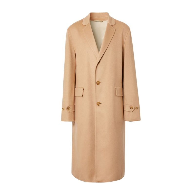 Mens Cashmere Single Breasted Trench-