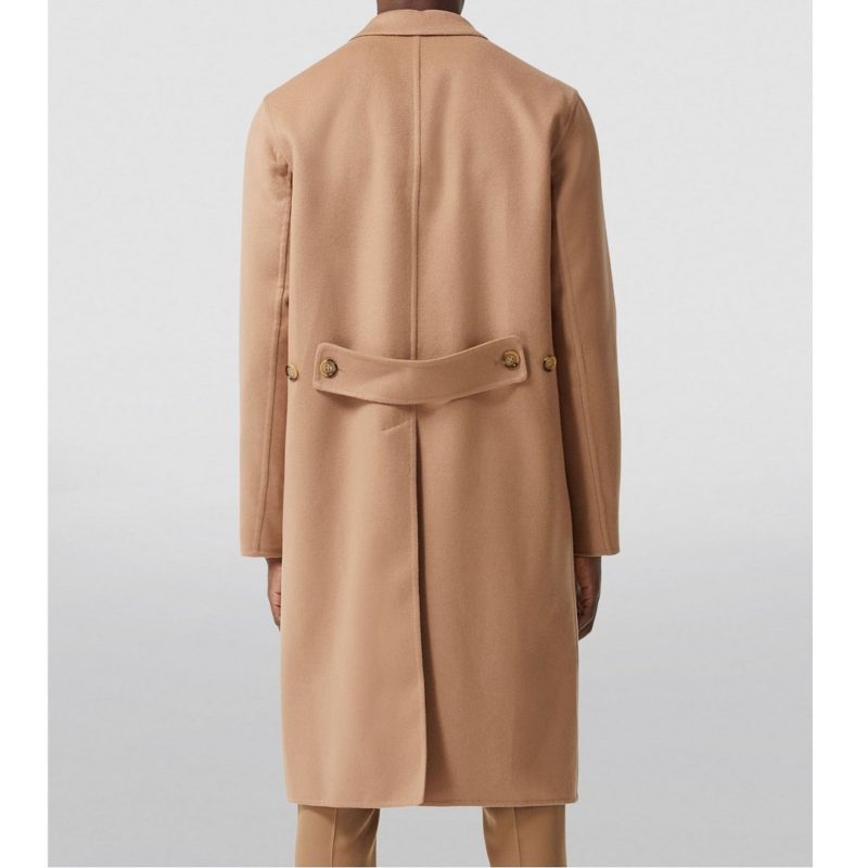 Mens Cashmere Single Breasted Trench coat