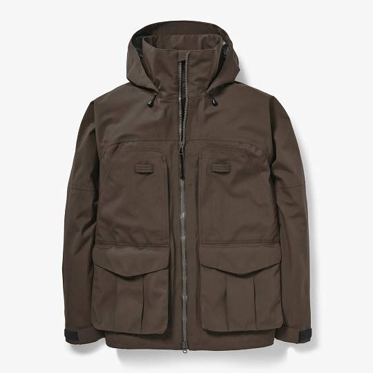 Mens Classic 3-Layer Sea Sand Hooded Field Jacket
