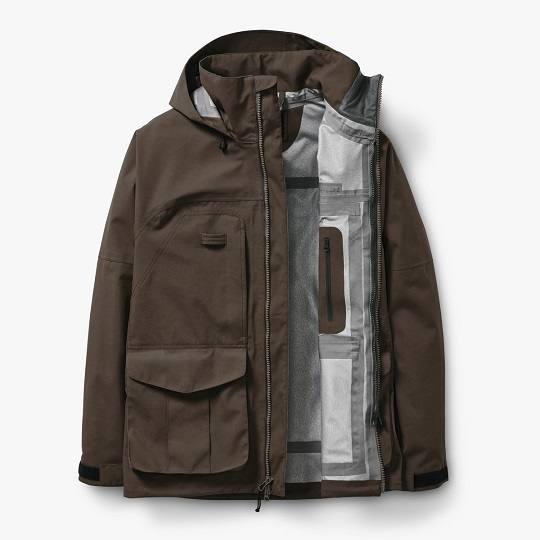 Mens Classic 3-Layer Sea Sand Hooded Field Jackets