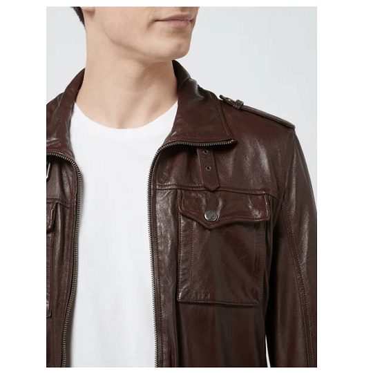 Mens Classic Chocolate Brown Field Jackets-