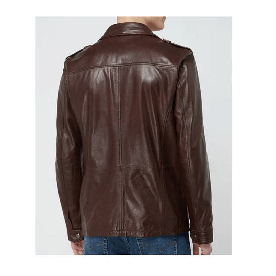 Mens Classic Chocolate Brown Field Jackets