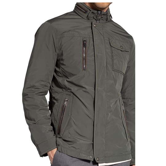 Mens Classic Cotton Ash Grey Field Jacket-