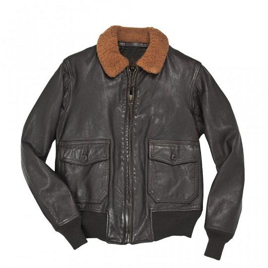 Mens-Classic-Naval-Aviator-Black-Leather-Jacket