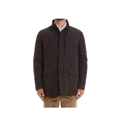 Mens Classic Purple Stand-up Cotton Field Jacket-