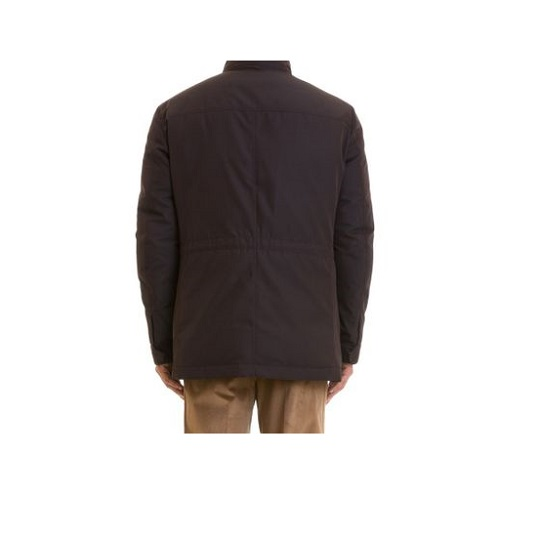 Mens Classic Purple Stand-up Cotton Field Jackets