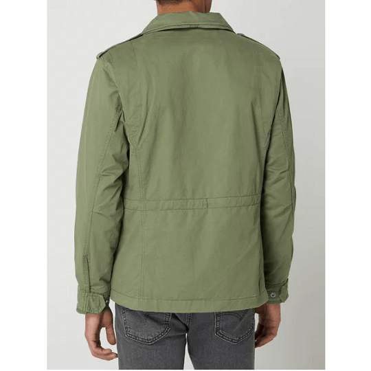 Mens Cotton Classic Olive Green Field Jacket-
