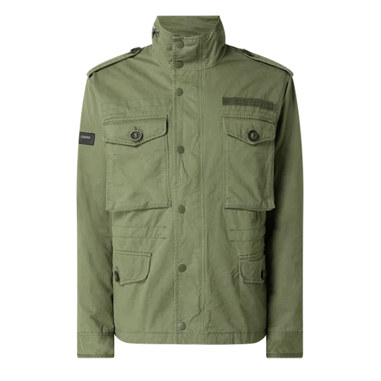 Mens Cotton Classic Olive Green Field Jacket