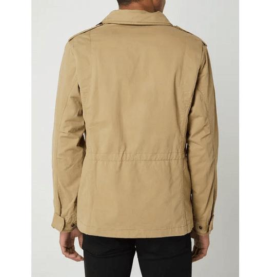 Mens Cotton Classic Sand Biege Field Jacket-