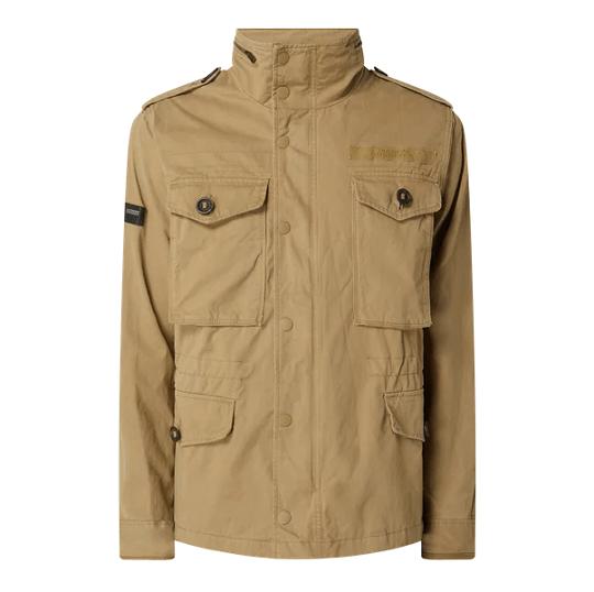 Mens Cotton Classic Sand Biege Field Jacket