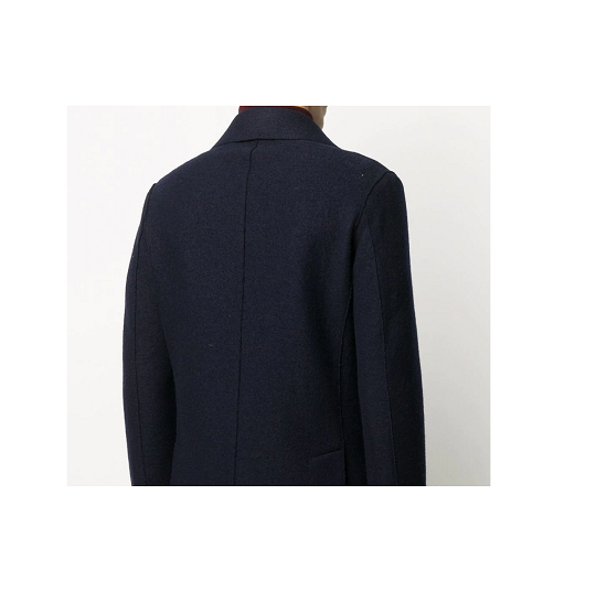Mens Double Breasted Navy Blue Short Peacoat-
