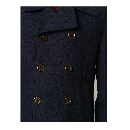 Mens Double Breasted Navy Blue Short Peacoat.